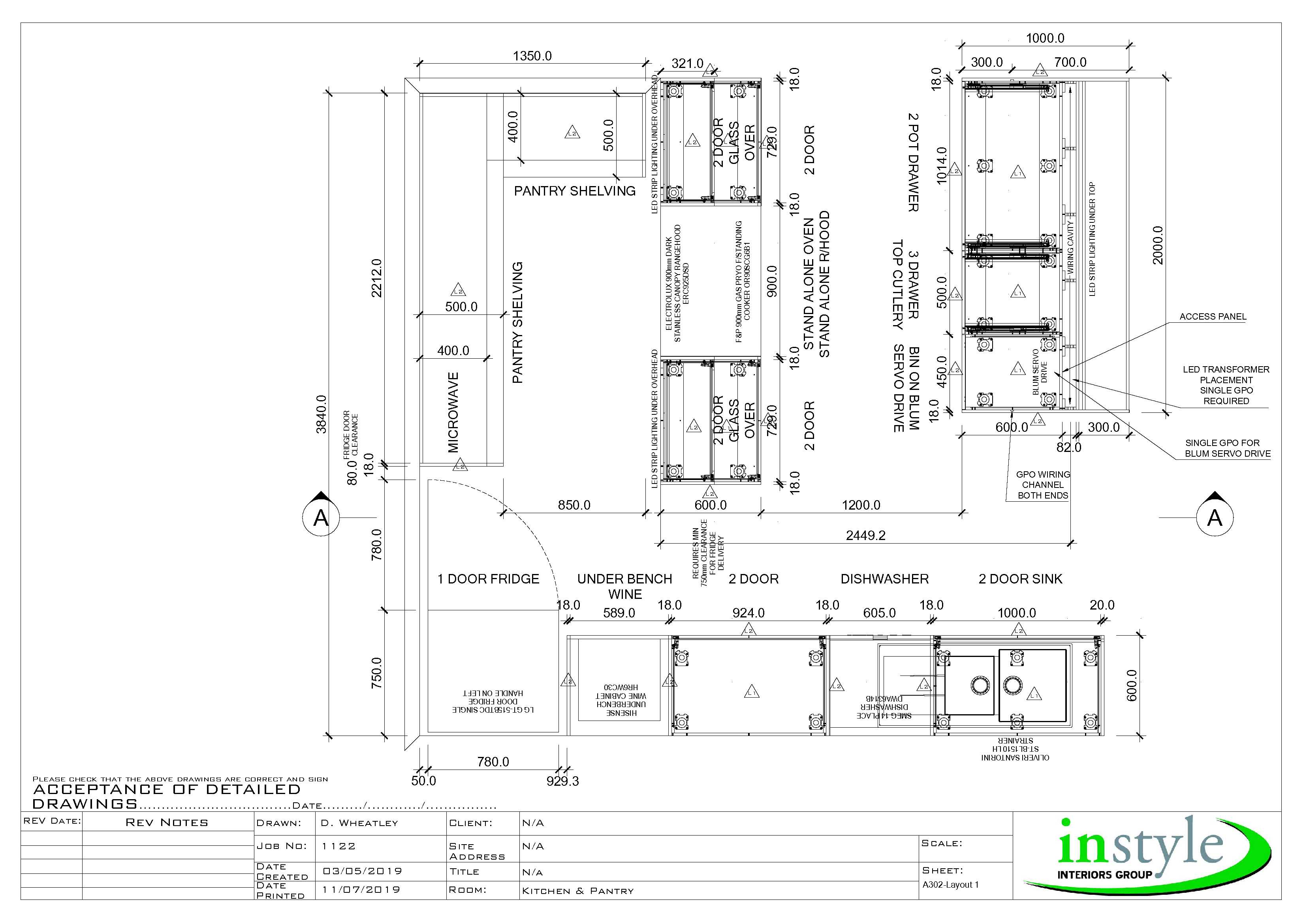 Cabinetry Design 2d 3d Concepts Instyle Kitchens Cabinets